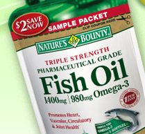 Expired free sample nature s bounty fish oil 7 days for Does fish oil expire