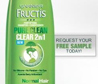 Free Sample Garnier Pure Clean Shampoo+Conditioner