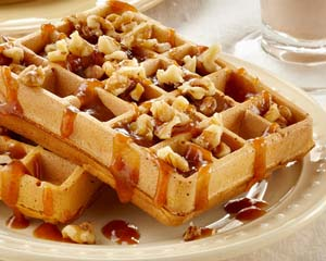 Nutty Pumpkin Waffles