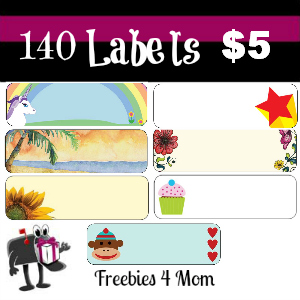 140 Labels for $5
