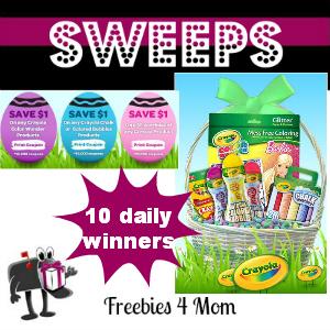 Sweeps Crayola Springtime (10 Daily Winners)
