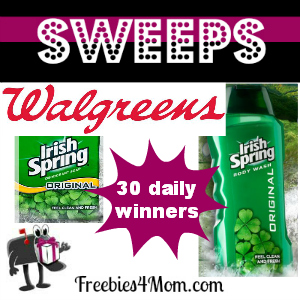 Sweeps Walgreens' Irish Spring Legendary Giveaway (30 Daily Winners)