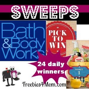 Sweeps Bath & Body Works Pick to Win (24 Daily Winners)