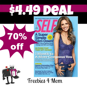 Deal $4.49 for Self Magazine