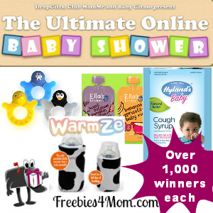 Expired* Free Baby Products from The Ultimate Online Baby Shower
