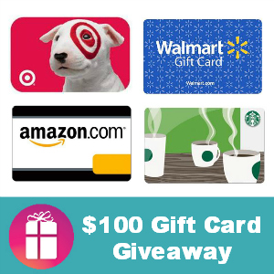 $100 Gift Card Giveawy