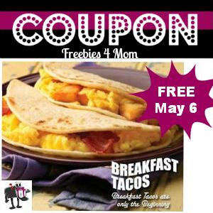 Coupon Free Breakfast Taco at Taco Cabana May 6
