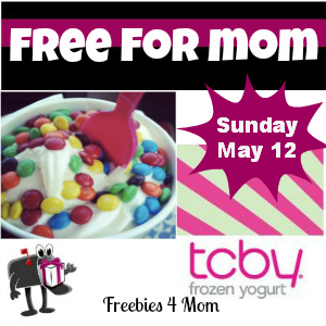 Free TCBY Yogurt for Moms on Sunday