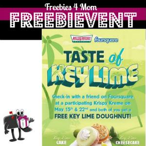 Free Key Lime Doughnut at Krispy Kreme May 15 & 22