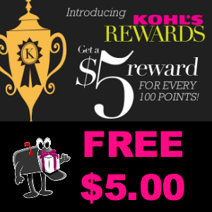 Free $5.00 Reward from Kohl's Rewards