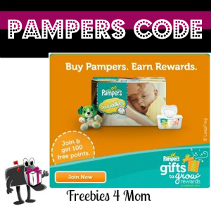 Free Pampers Code (10 pts thru May 9)