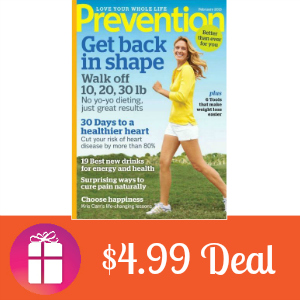 Deal $4.99 for Prevention Magazine