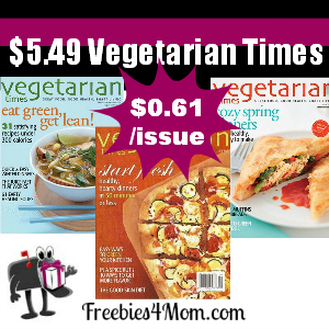 Deal $5.49 for Vegetarian Times Magazine