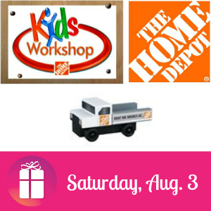 Free Kids Workshop at The Home Depot Aug. 3
