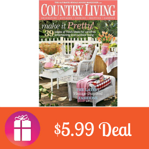 Deal Country Living Magazine $5.99/year