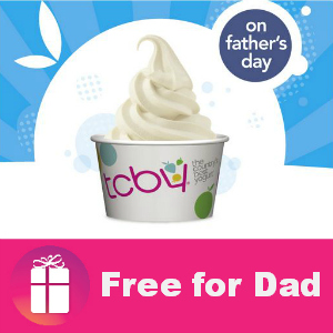 Free TCBY Yogurt for Dads on Sunday