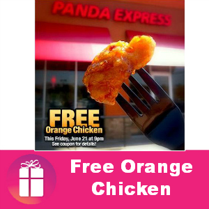 Free Orange Chicken at Panda Express Friday
