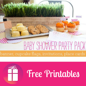 Free Baby Shower Printable Party Pack