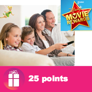 Freebie 25 pts Disney Movie Rewards