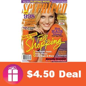 Deal $4.50 for Seventeen Magazine
