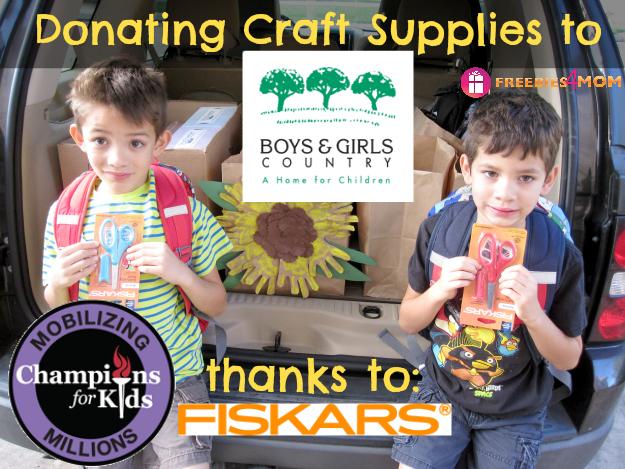 Donating Craft Supplies to Boys & Girls Country #Fiskars4Kids #cfk #cbias #shop