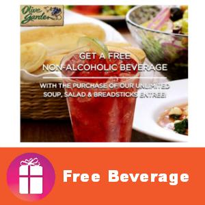 Coupon Free Beverage at Olive Garden