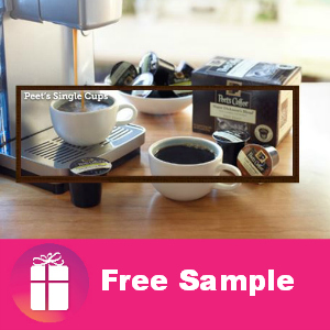 Free Sample Peet's Coffee Single Cups