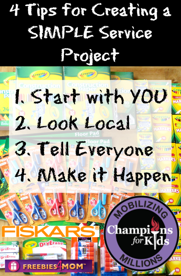 4 Tips for Creating a SIMPLE Service Project #Fiskars4Kids #cfk #cbias #shop
