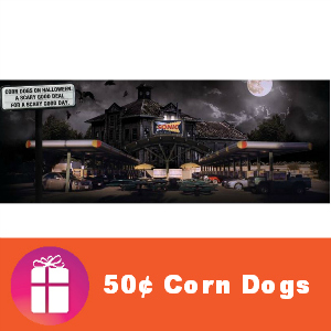 Sonic 50¢ Corn Dogs Oct. 31