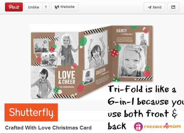Crafted with Love Christmas Card