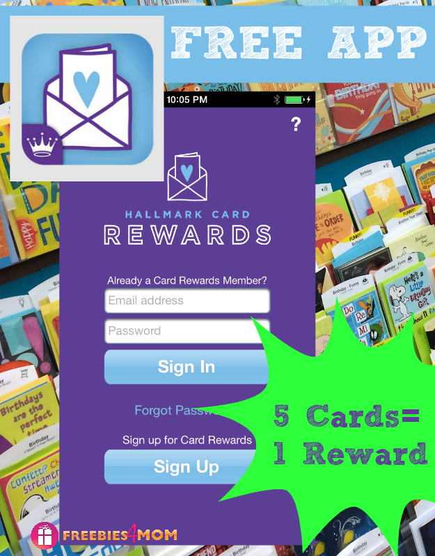 Free Hallmark Card Rewards App