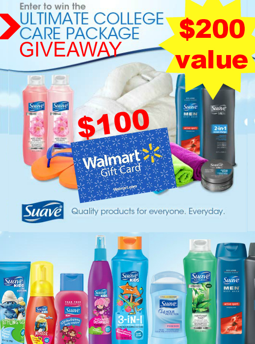 $200 Suave Ultimate College Care Package Giveaway