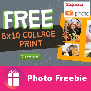 Free 8x10 at Walgreens thru Nov. 2