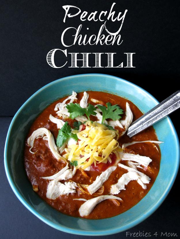 Peachy Chicken Chili Recipe #1TexasChili #ad