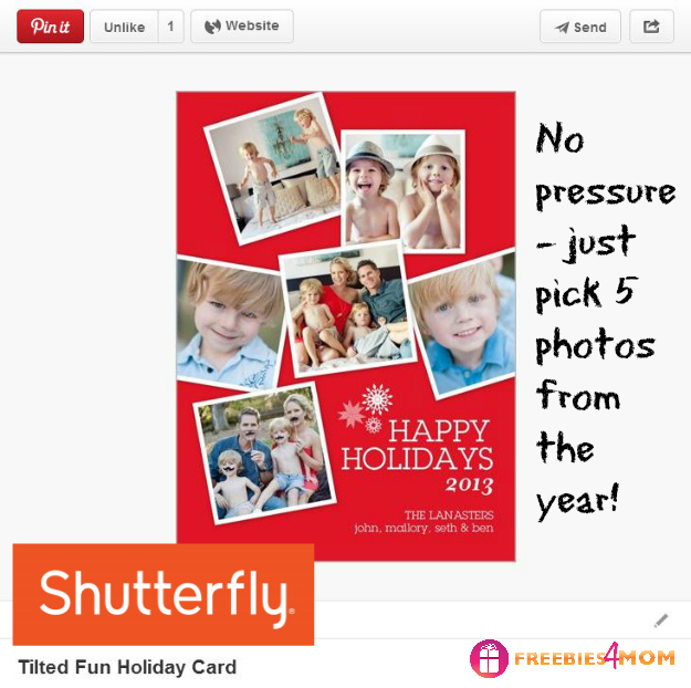 Tilted Fun Holiday Card