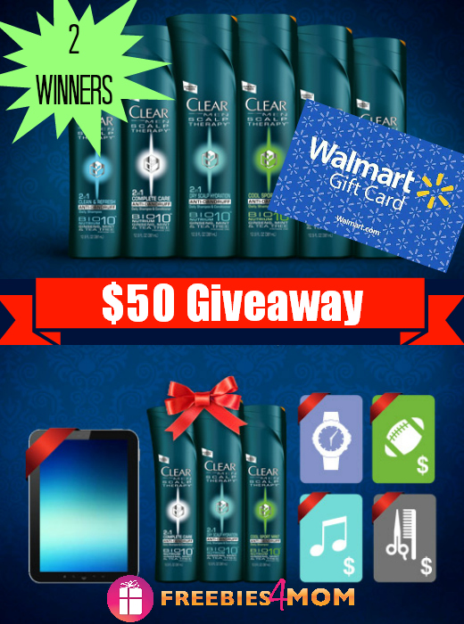 $50 CLEAR Men Scalp Therapy Giveaway
