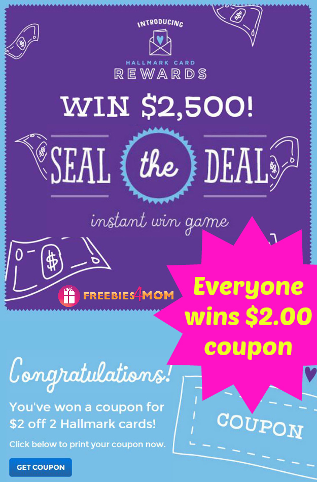 Hallmark Seal the Deal Instant Win Game