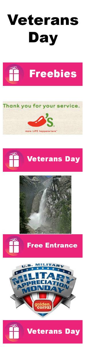 Veterans Day Freebie Roundup