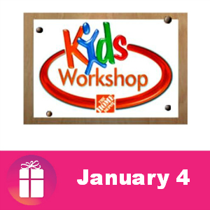 Free Kids Workshop at The Home Depot Jan. 4