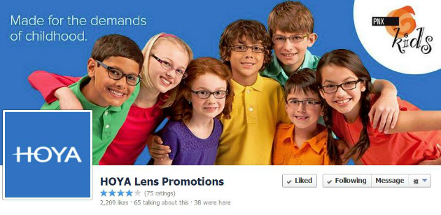 Hoya Lenses on Facebook