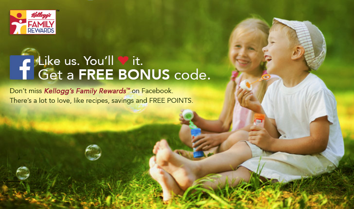 Freebies from Kellogg's Family Rewards plus 400 bonus points!