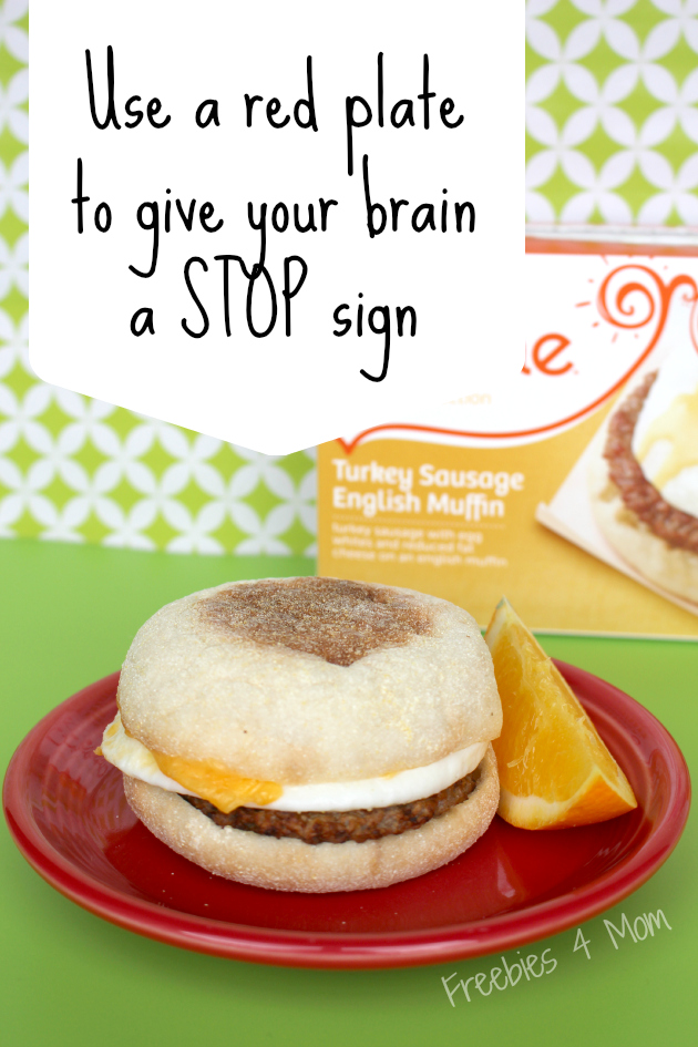 Use a red plate to give your brain a STOP sign #WowThatsGood #shop