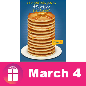 Free Pancakes at IHOP March 4