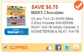 Save $0.75 on MARS Bites Coupon #EatMoreBites #shop