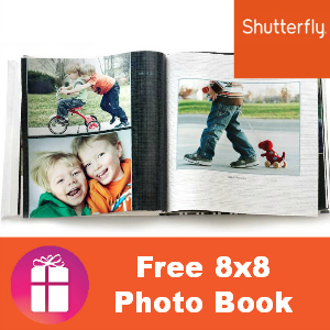 There is a new Shutterfly coupon code being offered for a FREE 8×11 hardcover photo book!You'll have to go through Shutterfly's Facebook page and you will probably notice that they're advertising a wedding guestbook; however, the code can be used on any 8×11 photo book.