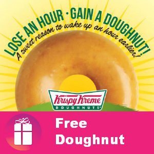 Free Doughnut at Krispy Kreme March 9