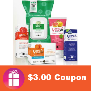 Save $3.00 off any Yes To product over $5