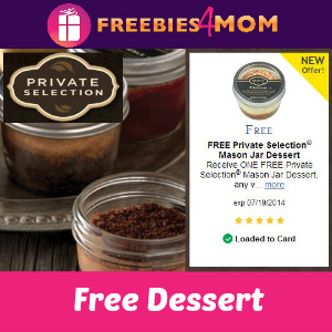 Free Mason Jar Dessert at Kroger