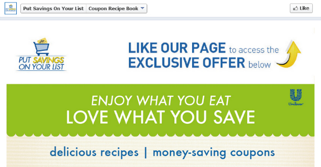 Put Savings On Your List  - Like on Facebook
