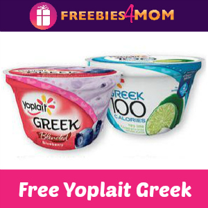 Free Yoplait Greek at Kroger